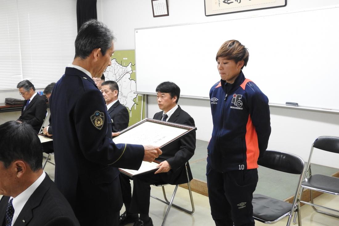 伊賀警察署長感謝状贈呈式に参加しました。